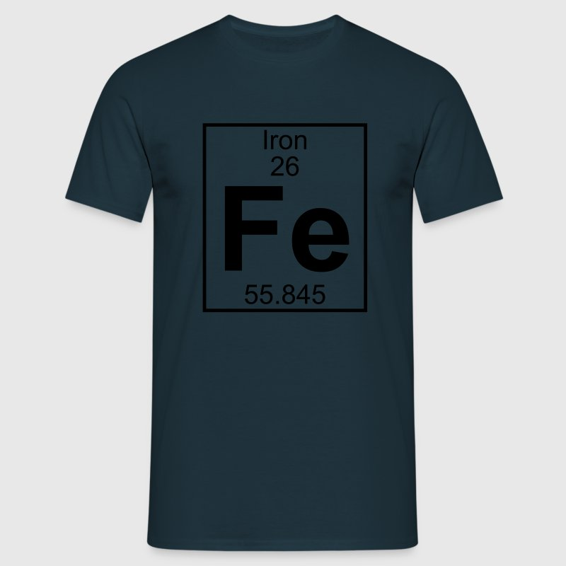 Periodic table element 26 - Fe (iron) - BIG T-shirts - T-shirt herr