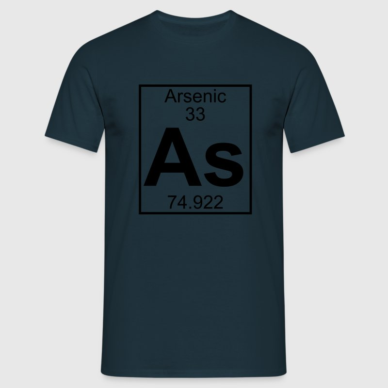 Periodic table element 33 - As (arsenic) - BIG Tee shirts - T-shirt Homme