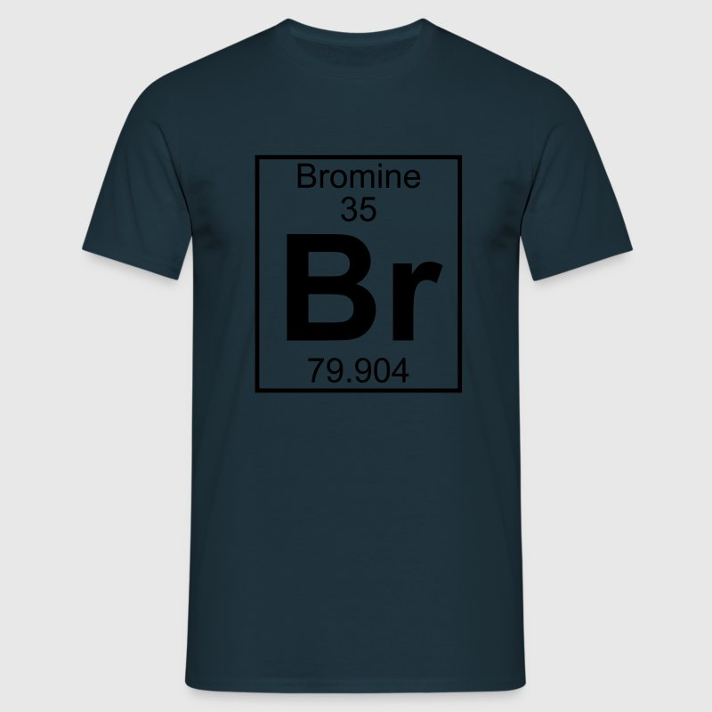 Periodic table element 35 - Br (bromine) - BIG Camisetas - Camiseta hombre