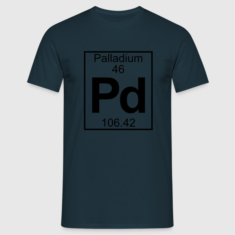 Periodic table element 46 - Pd (palladium) - BIG Tee shirts - T-shirt Homme
