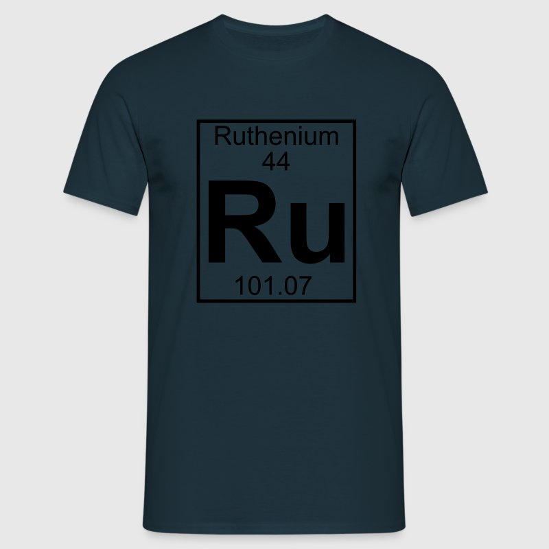 Periodic table element 44 - Ru (ruthenium) - BIG T-skjorter - T-skjorte for menn