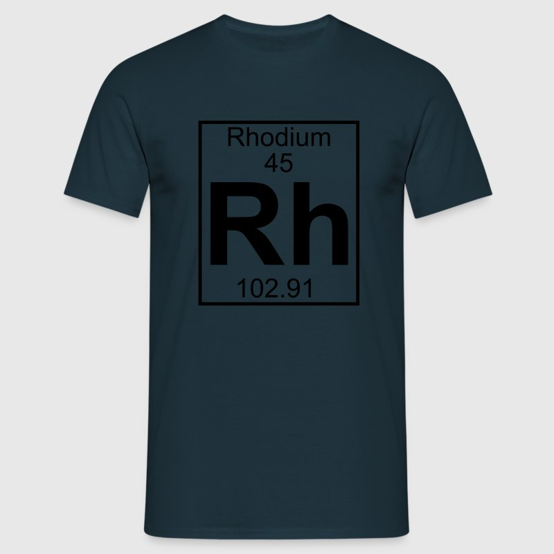 Periodic table element 45 - Rh (rhodium) - BIG T-Shirts - Männer T-Shirt