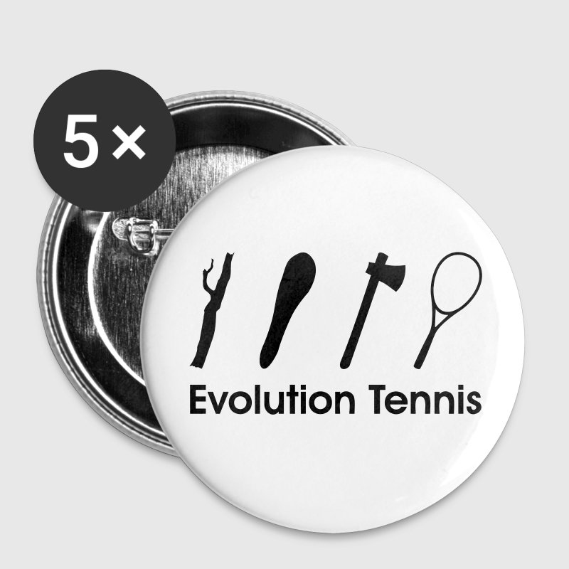 Evolution Tennis * racket funny Comic Clipart icon Buttons - Buttons medium 32 mm