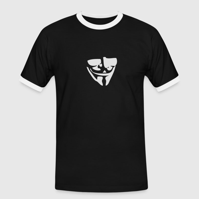 Guy Fawkes / Anonymous mask T-Shirts - Men's Ringer Shirt