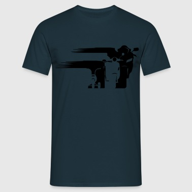 Motorcycle Evolution wandering front  T-Shirts - Men's T-Shirt