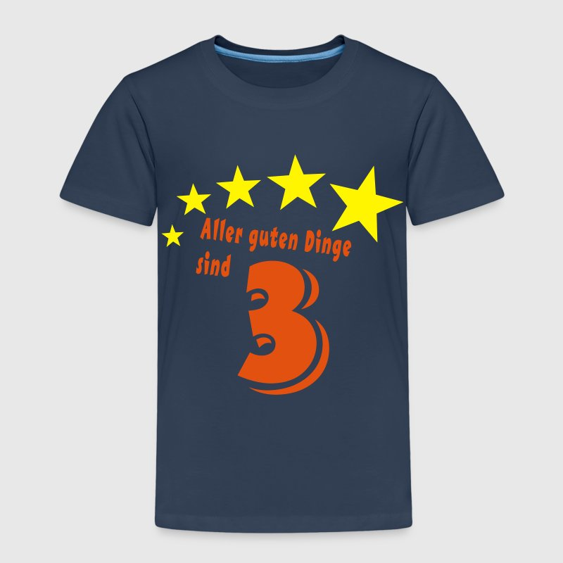 3 Birthday - All good things come in threes - Kids' Premium T-Shirt