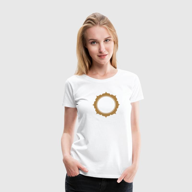 Lotus flower, frame, Your Style, wreath, sun,  T-Shirts - Women's Premium T-Shirt
