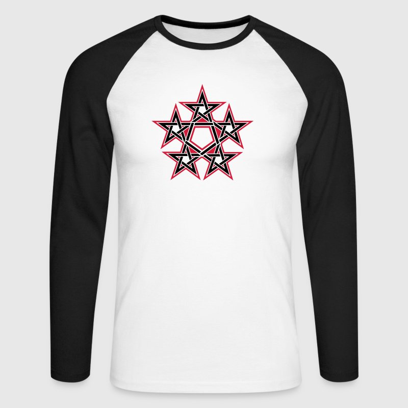 Pentagram, 5 Stars, Pentagon, Golden Ratio Long sleeve shirts - Men's Long Sleeve Baseball T-Shirt