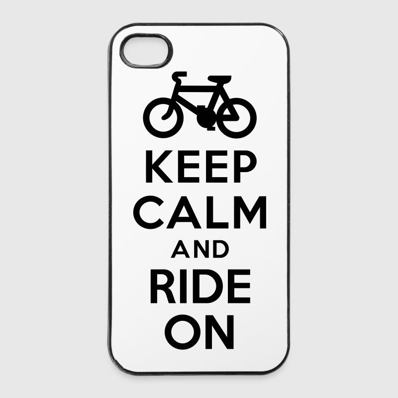 Keep calm and ride on bike Coques pour portable et tablette - Coque rigide iPhone 4/4s