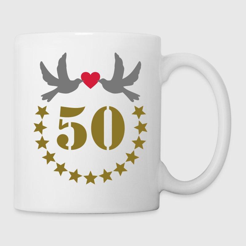 Tasse 50e anniversaire de mariage 50 ans cinquante for 50e anniversaire de mariage