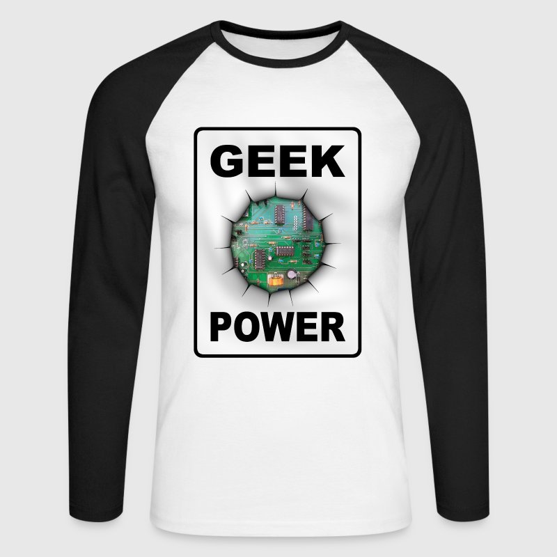 Geek power Tee shirts manches longues - T-shirt baseball manches longues Homme