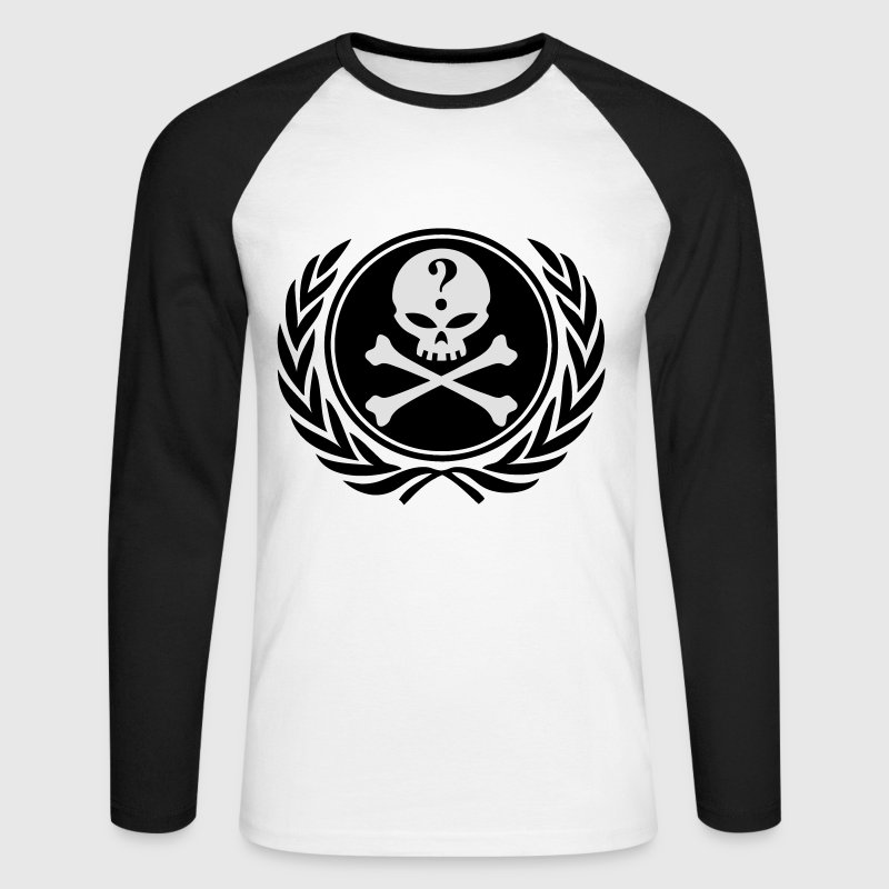 anonymous skull Tee shirts manches longues - T-shirt baseball manches longues Homme