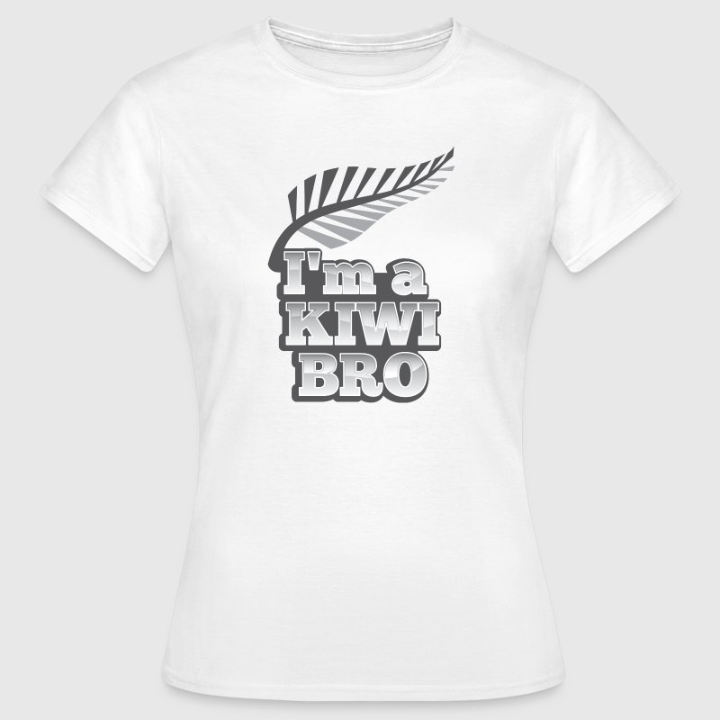 I'm a KIWI BRO with silver fern New Zealand T-Shirts - Women's T-Shirt