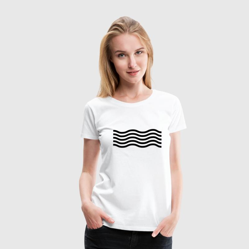 Wellen T-Shirts - Frauen Premium T-Shirt