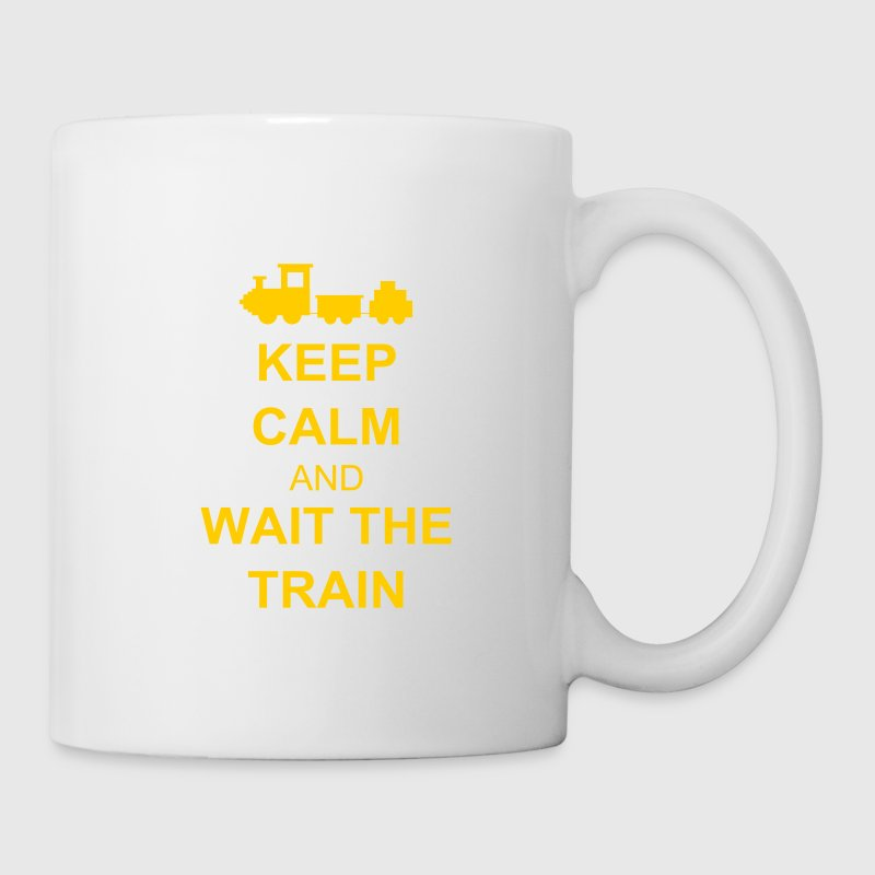 Keep calm and wait the train Bottles & Mugs - Mug