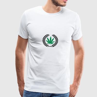 laurier feuille de cannabis Teddies - Men's Premium T-Shirt