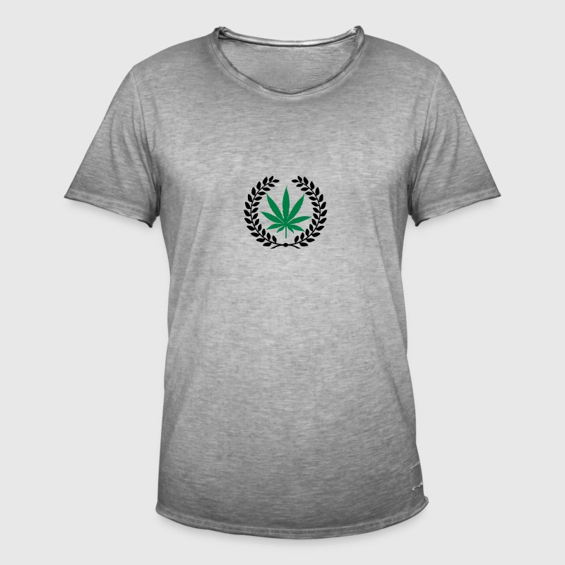 laurier feuille de cannabis Caps & Hats - Men's Vintage T-Shirt