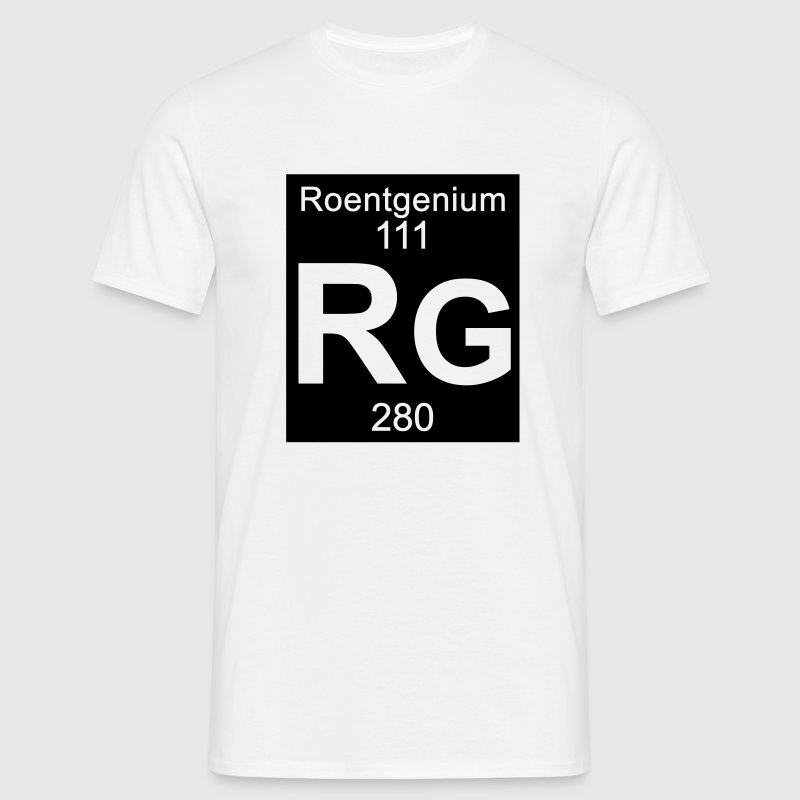 Element 111 - rg (roentgenium) - Inverse (Full) T-Shirts - Männer T-Shirt