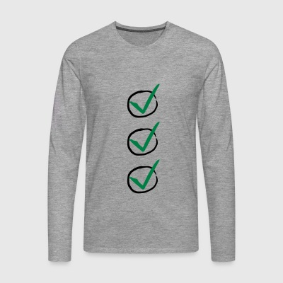 Three Checkmarks T-Shirts - Men's Premium Longsleeve Shirt