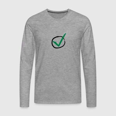 Checkmark T-Shirts - Men's Premium Longsleeve Shirt