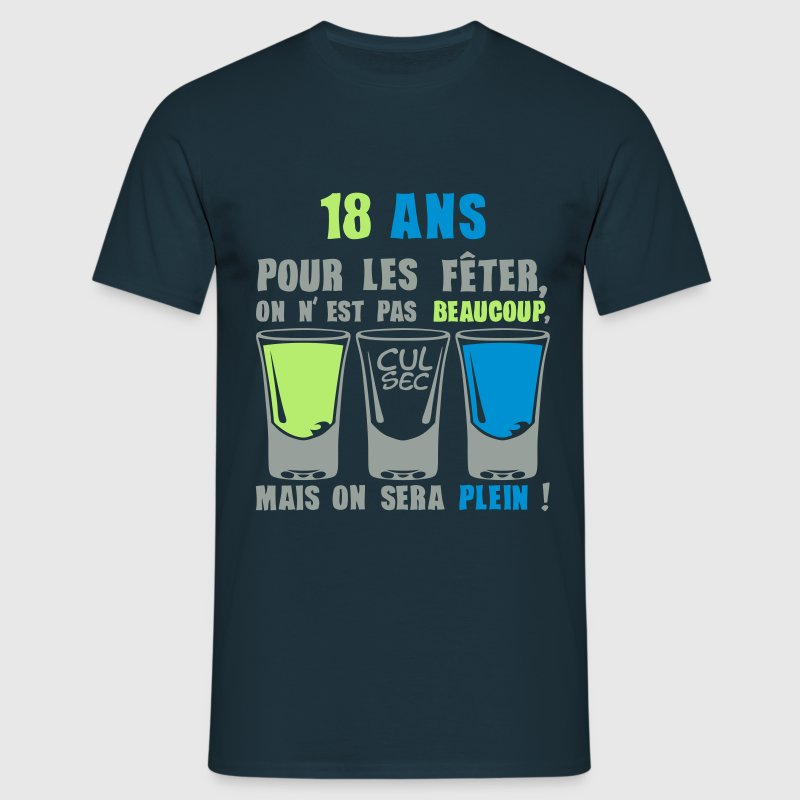 18 ans shooter alcool anniversaire plein Tee shirts - T-shirt Homme