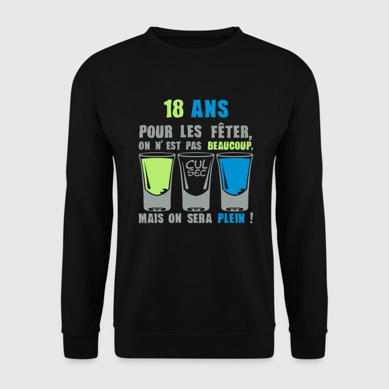 18 ans shooter alcool anniversaire plein Sweat-shirts - Sweat-shirt Homme