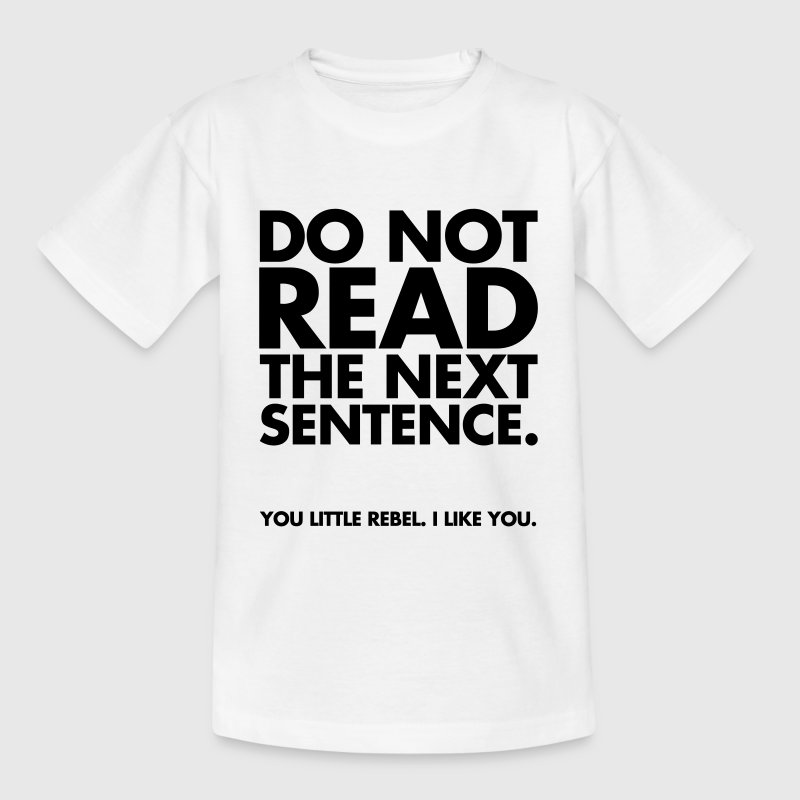 Do Not Read T-shirts - Børne-T-shirt