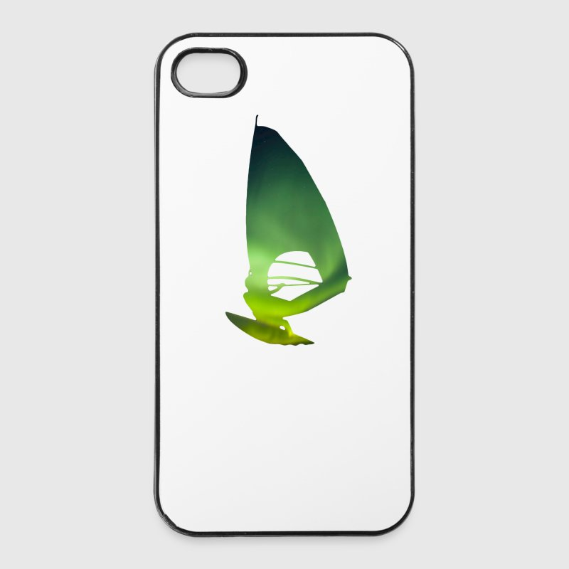 Northern Lights 01 Windsurfer surf Coques pour portable et tablette - Coque rigide iPhone 4/4s