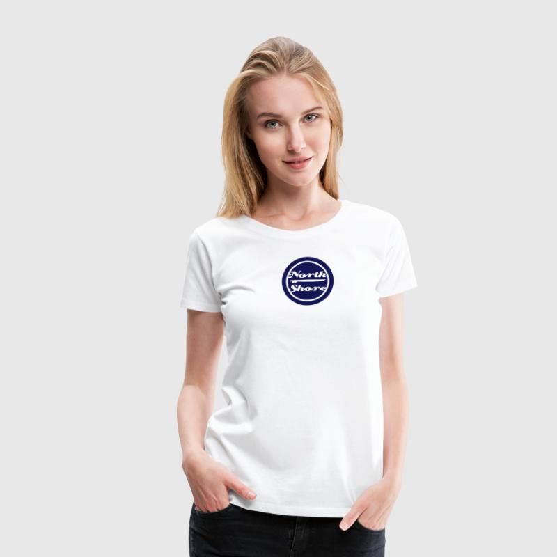 north shore surfbrett T-Shirts - Frauen Premium T-Shirt