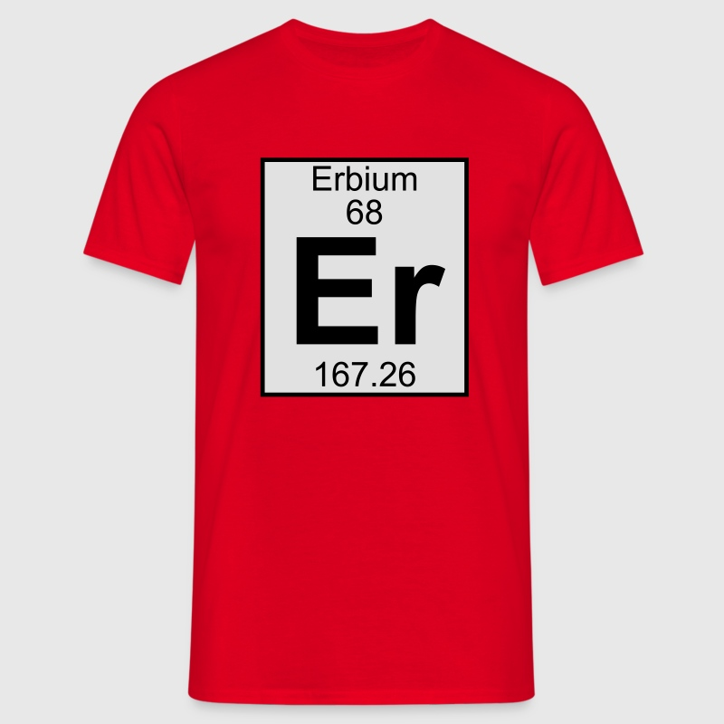 Elements 68 - er (erbium) - Full (white) Camisetas - Camiseta hombre