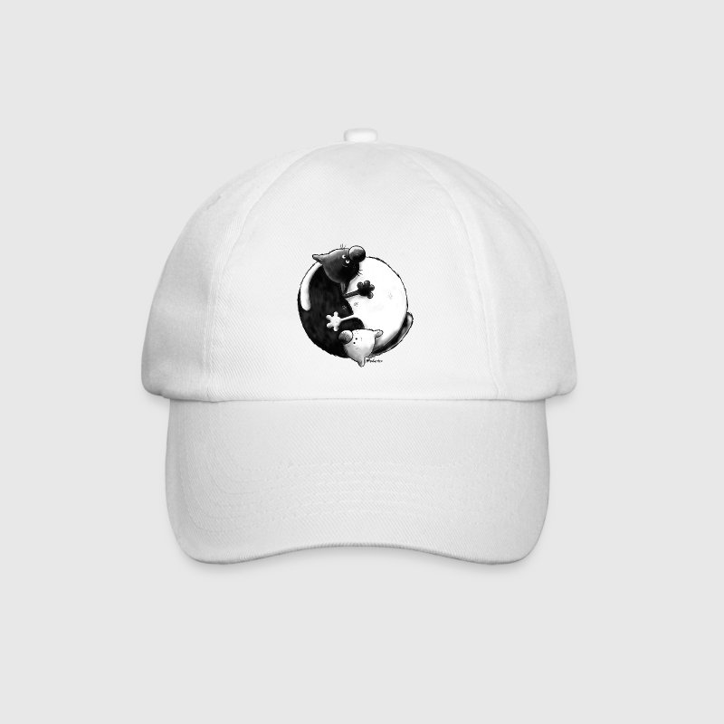 Black and White - Yin Yang - Cats Caps & Hats - Baseball Cap