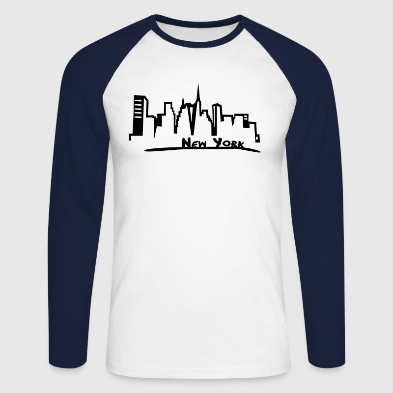 New York Tee shirts manches longues - T-shirt baseball manches longues Homme