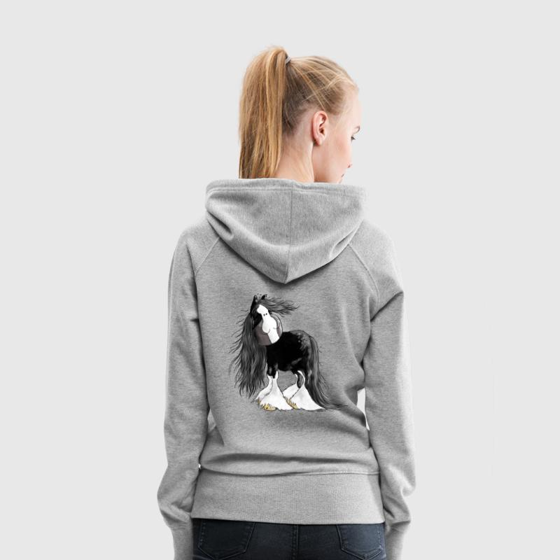 Gentle Giant - Shire Cheval - Shire Horse - Sweat-shirt à capuche Premium pour femmes