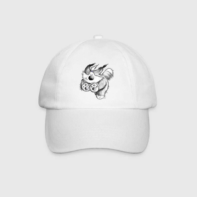 Flying Bearded Collie - Dog  - Baseball Cap