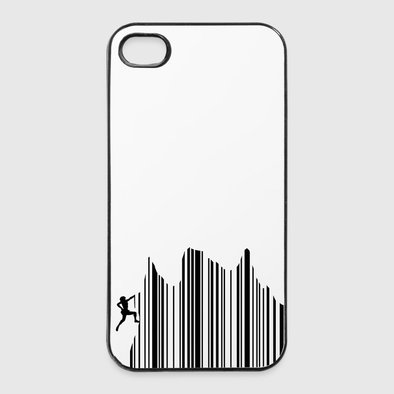 Climbing Klettern Barcode Freeclimbing 1c Handy & Tablet Hüllen - iPhone 4/4s Hard Case