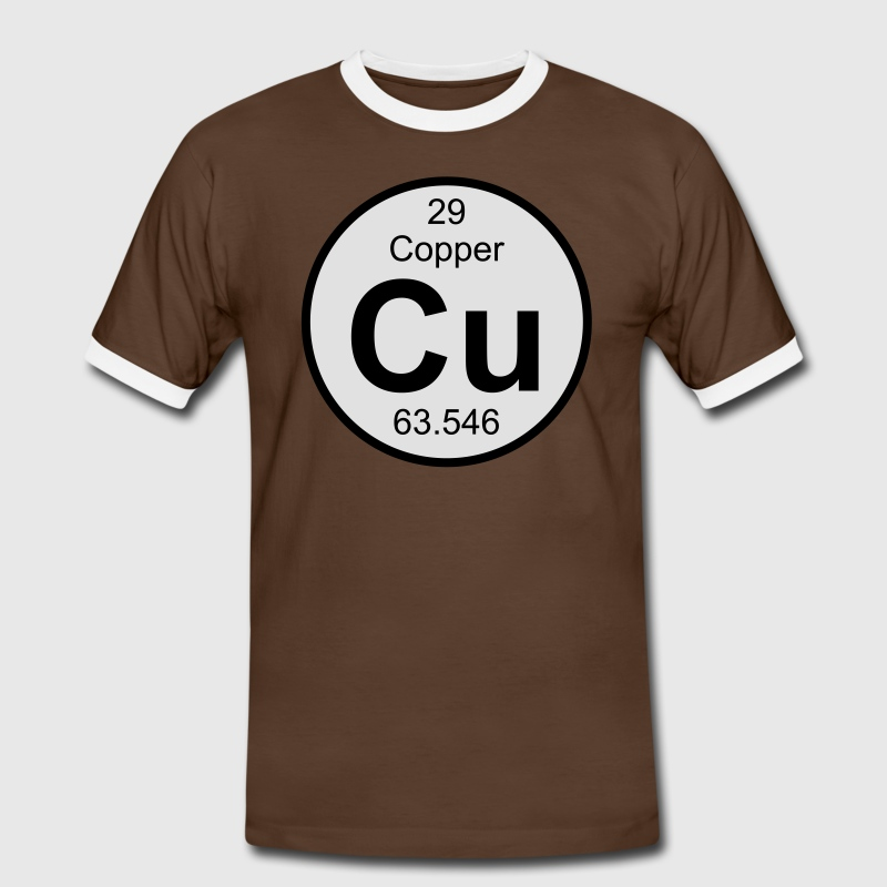 Element 29 - cu (copper) - Round (white) T-Shirts - Männer Kontrast-T-Shirt