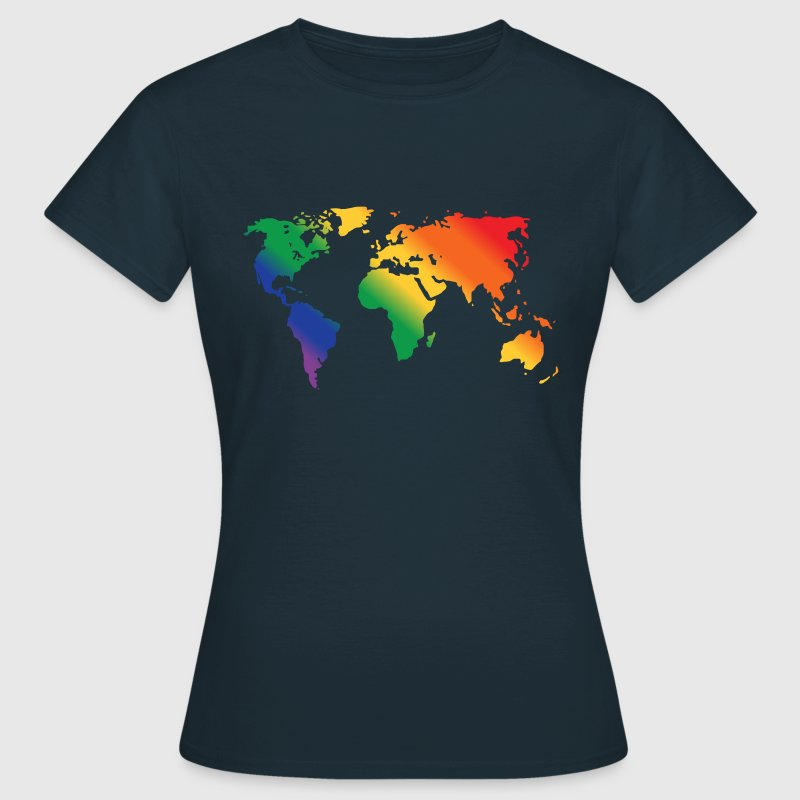 Rainbow World  Tee shirts - T-shirt Femme