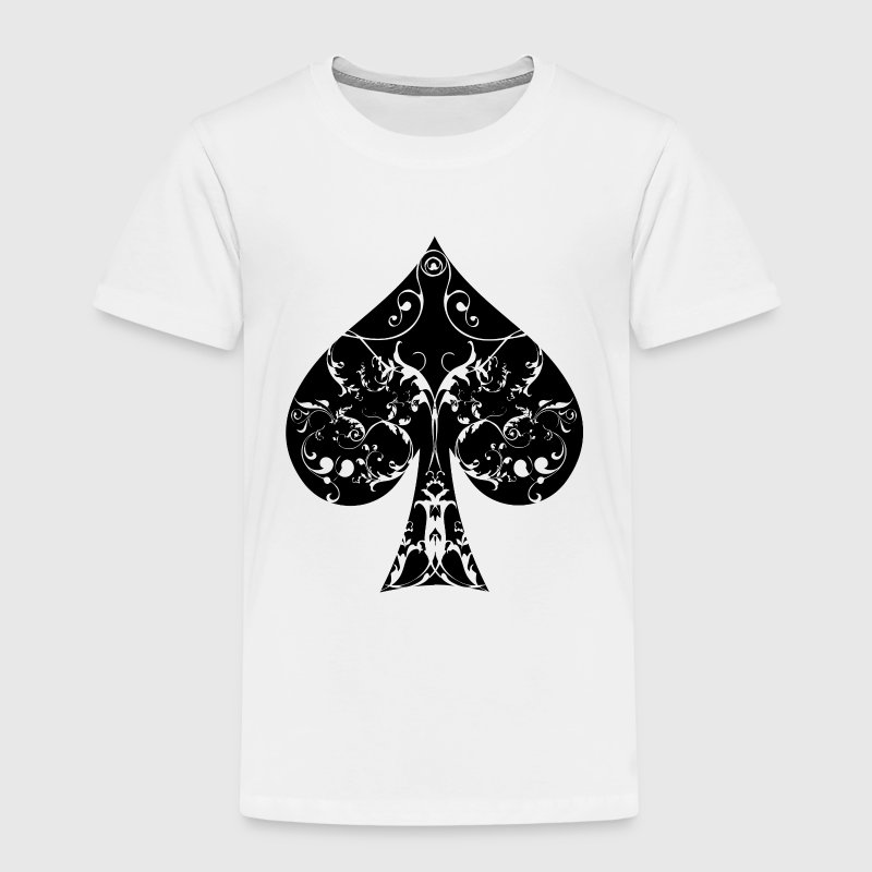 Pik Tribal Poker Ass Hold´em  T-Shirts - Kinder Premium T-Shirt