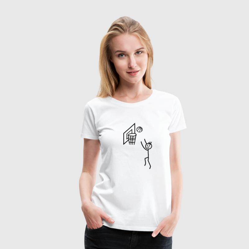 Basketballspieler - Basketballnetz T-Shirts - Frauen Premium T-Shirt
