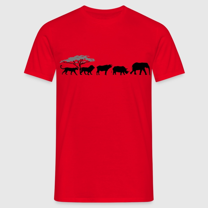Big Five in the savanna  T-Shirts - Men's T-Shirt