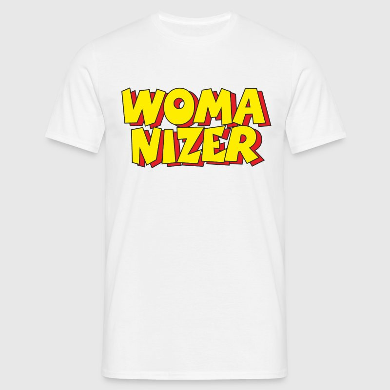 Womanizer T-Shirt (White) - Men's T-Shirt