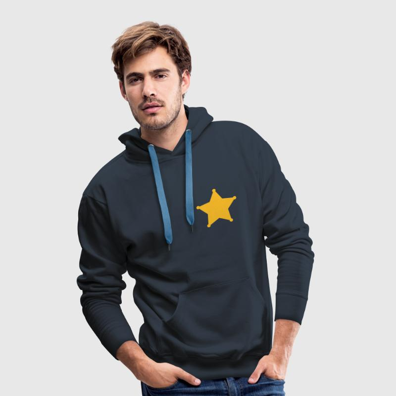 Sheriff Star, Old West, Wild, American, Badge Hoodies & Sweatshirts - Men's Premium Hoodie