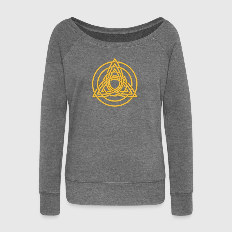 Triquetra, paganisme germanique, art celtique, Sweat-shirts - Pull Femme col bateau de Bella