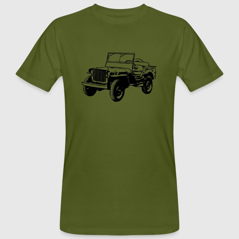 T-shirt organic: Willys Jeep - Men's Organic T-shirt