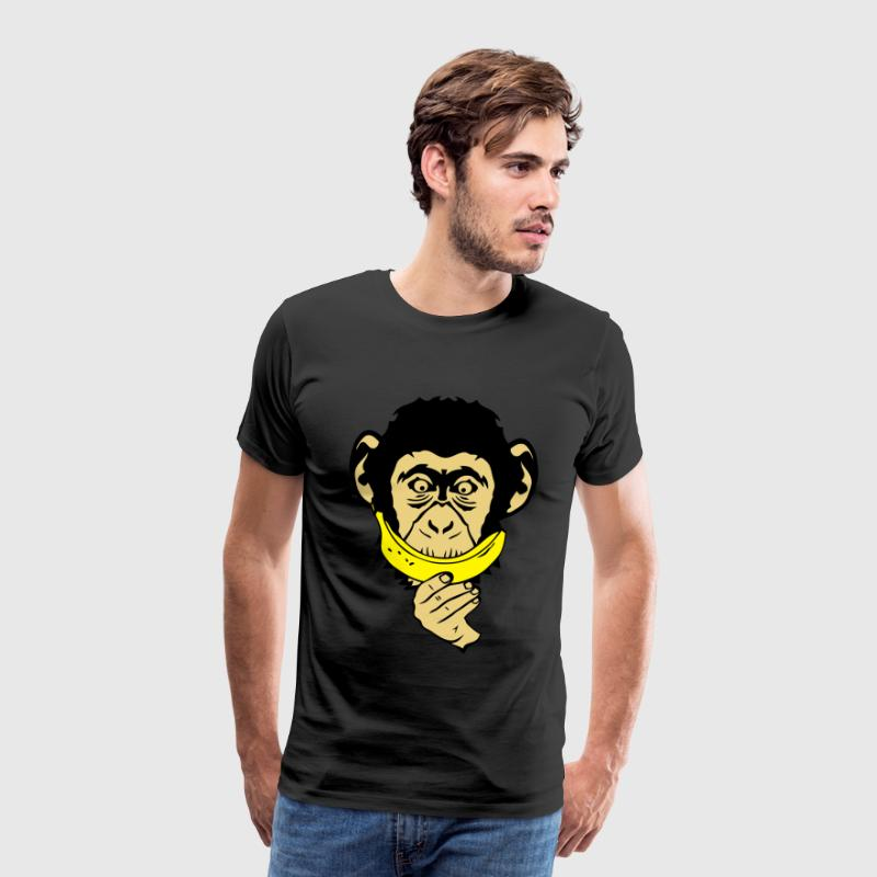 singe monkey sourire banane smiley face Tee shirts - T-shirt Premium Homme