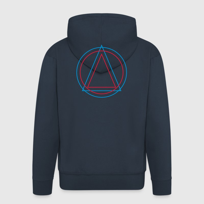 Geometry - Triangle Circle Hoodies & Sweatshirts - Men's Premium Hooded Jacket