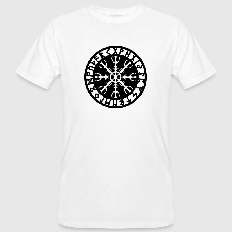 Helm of awe, Aegishjalmur, protection symbol, rune T-shirts - Organic mænd