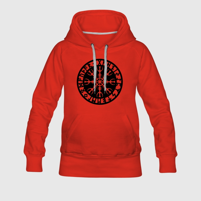 Helm of awe, Aegishjalmur, protection symbol, rune Sweat-shirts - Sweat-shirt à capuche Premium pour femmes