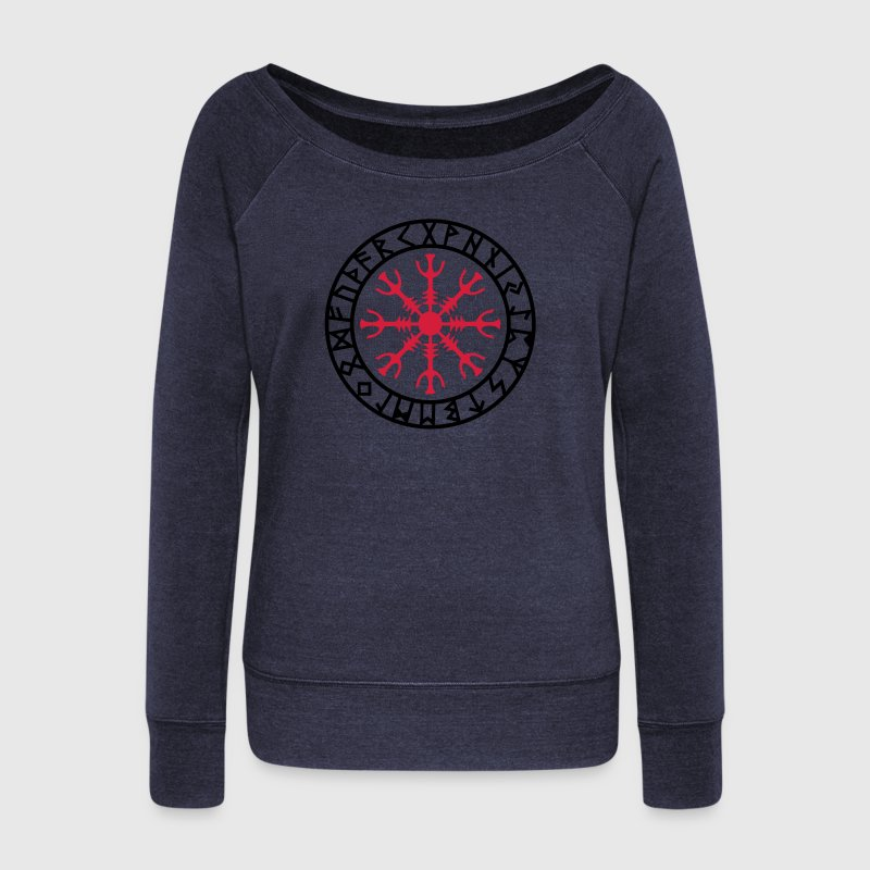 Aegishjalmur, Helm of awe, Sigil, Rune magic Hoodies & Sweatshirts - Women's Boat Neck Long Sleeve Top