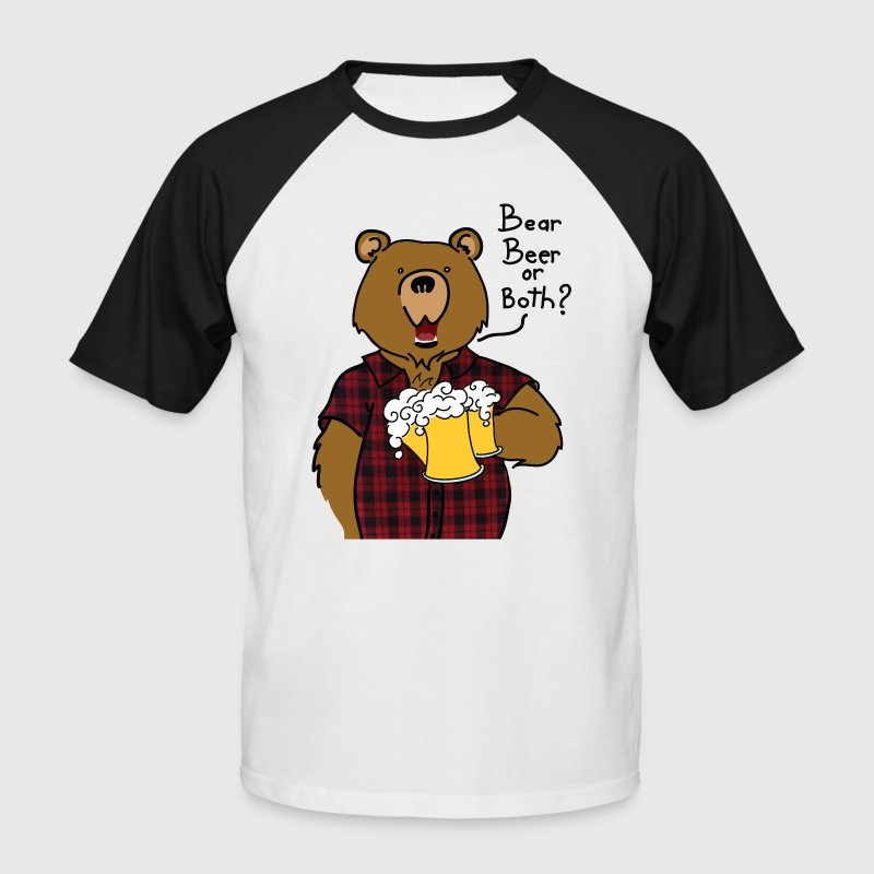 Beer and Bear - T-shirt baseball manches courtes Homme